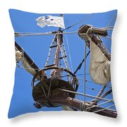Galleon Lookout Nest Throw Pillow