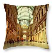 Galleria Umberto I  Naples Italy Throw Pillow
