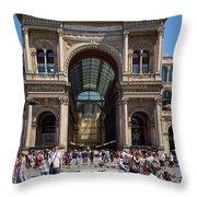 Galleria Vittorio Emanuele. Milan Throw Pillow