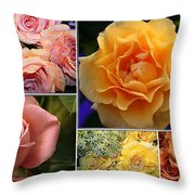 Beautiful Roses- A Collage Throw Pillow