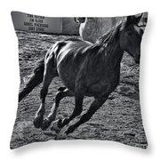 Gallop 2 Throw Pillow