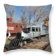 Galloping Goose 7 In The Colorado Railroad Museum Throw Pillow