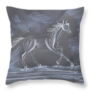 Galloping Horse Throw Pillow