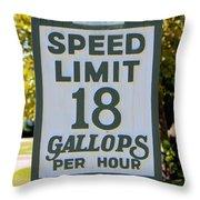 Gallops Per Hour Throw Pillow