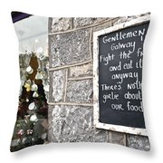 Galway Fight The Frills Throw Pillow