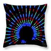Gama Ray Light Burst Abstract Throw Pillow