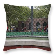 Game Behind The Fence Throw Pillow