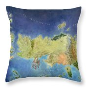 Game Of Thrones World Map Throw Pillow