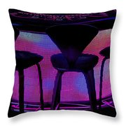 Game Table Throw Pillow