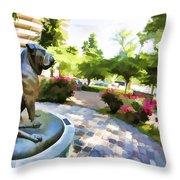 Gamekeepers Dog Park Throw Pillow