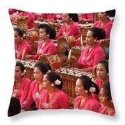 Gamelan 01 Throw Pillow