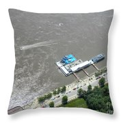 Gaming On The River Boats Throw Pillow