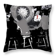 Gaming Tables Interior Binion's Horseshoe Casino Las Vegas Nevada 1979-2014 Throw Pillow