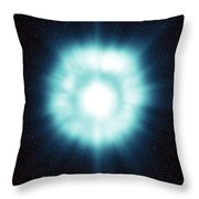Gamma-ray Burst In Space Throw Pillow