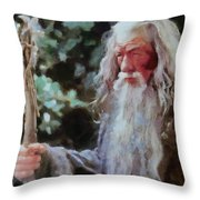 Gandalf The Grey Not Moses Mom Throw Pillow