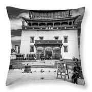 Gandantegchenling Monastery Throw Pillow