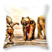 Ganesh Dream Throw Pillow by Olivier Le Queinec