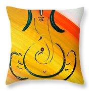 8 Ganesh Ekdhantaya Throw Pillow