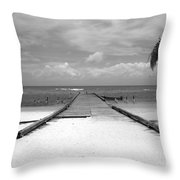 Gangplank Of Perfection Black And White Throw Pillow