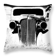 Gangster Car Throw Pillow