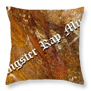 Gangster Rap Music Throw Pillow