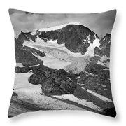 509427-bw-gannett Peak And Gooseneck Glacier, Wind Rivers Throw Pillow