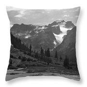 509417-bw-gannett Peak Seen From Dinwoody Creek Throw Pillow