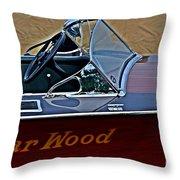 Gar Wood Boat Throw Pillow