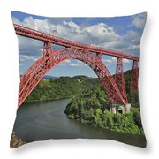 Garabit Viaduct Throw Pillow