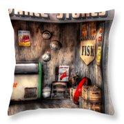 Garage - Advance Stores  Throw Pillow