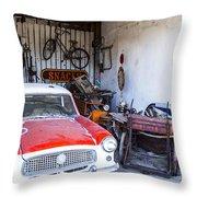 Garage Throw Pillow