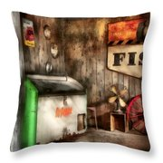 Garage - Just Behind The Garage Throw Pillow