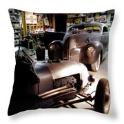Garage Tour Throw Pillow