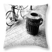 Garbage Bike  Throw Pillow