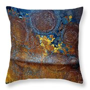 Garbage Can Abstract Throw Pillow
