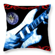 Garcia In Space Throw Pillow