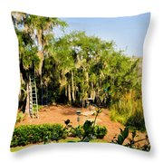 Garden And Marsh Throw Pillow