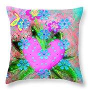 Garden Art - Abstract  Throw Pillow