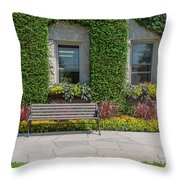 Garden At Niagara Parks School Throw Pillow
