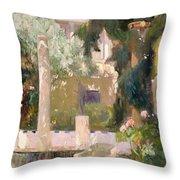 Garden At The Sorolla House Throw Pillow