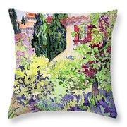 Garden At Vaison Throw Pillow