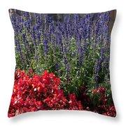 Garden At Yonah Mountain Throw Pillow
