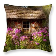 Garden - Belvidere Nj - My Little Cottage Throw Pillow by Mike Savad