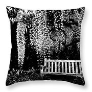 Garden Bench  By Zina Zinchik Throw Pillow