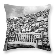 Garden Bench Throw Pillow by Chevy Fleet