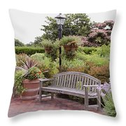 Garden Benches 6 Throw Pillow