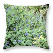 Garden Blues Throw Pillow