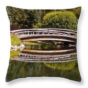 Garden Bridge Throw Pillow