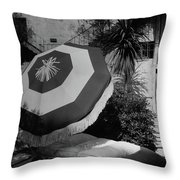 Garden Chaise Lounge Throw Pillow