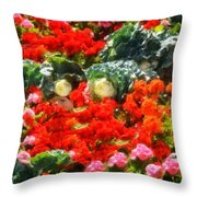 Garden Child Throw Pillow